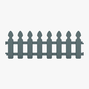 decorative fence 3D model