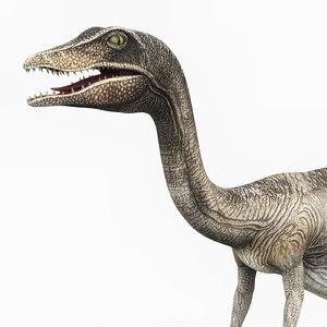 compsognathus dinosaur pbr 3D model