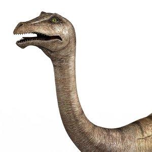 gallimimus dinosaur pbr 3D model