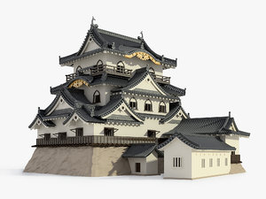 hikone japanese castle 3D model