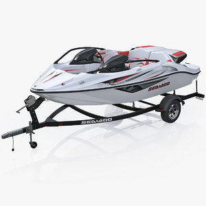 sea-doo speedster 200 trailer 3d model