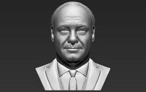 3D model tony soprano bust printing