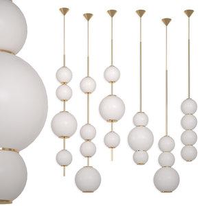 chandelier beads lampatron lamps 3D model