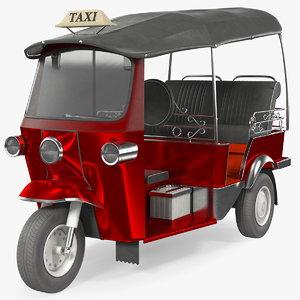 3D auto rickshaw