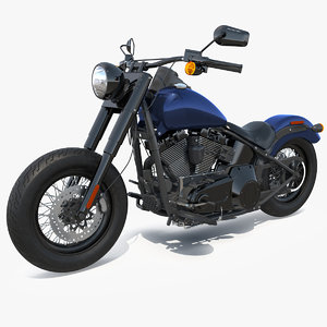 softail motorcycle cycle moto 3D model