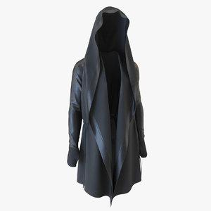 3D model black cloak