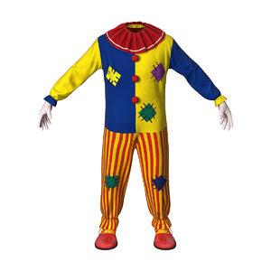 3D boys clown suit model