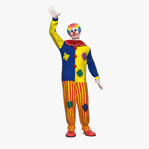 3D clown costume rigged