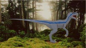 3D raptor dinosaur