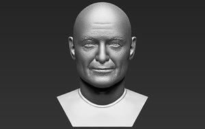 3D john locke lost bust model