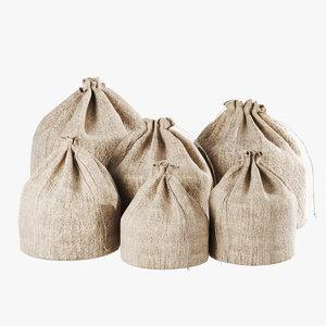 3D fabric storage bag set
