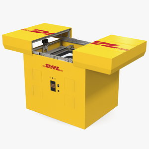 3D dhl express delivery drone model