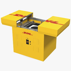 dhl express delivery drone 3D model