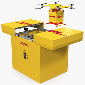dhl express station delivery 3D