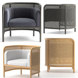 chair crateandbarrel furniture 3D model