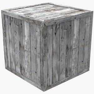3D wooden cube box model
