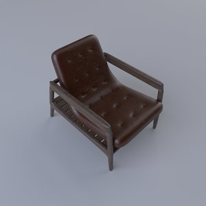leather modern chair 3D model