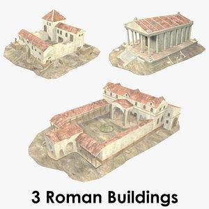 3D - roman buildings model