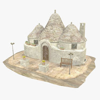 Trulli House - South Italy - I - Low Poly - Textured
