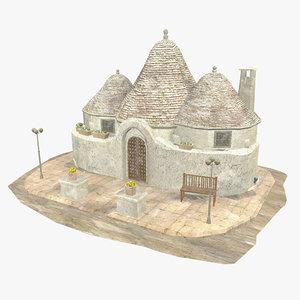 3D - trulli house south