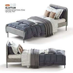 3D slattum bed twin model