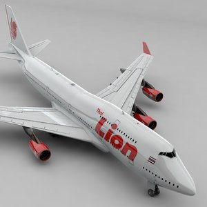 boeing 747 thai lion 3D model