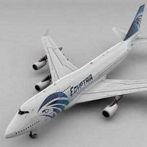 boeing 747 egyptair l826 3D