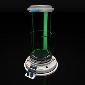 sci fi liquid container model