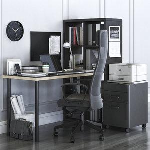 3D office kallax markus chair
