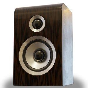 wood speaker 3D model
