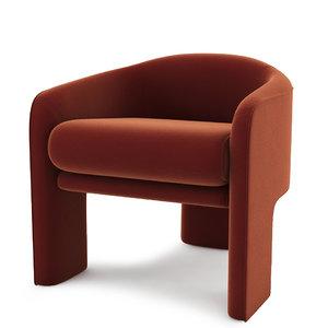 3D model vladimir kagan weiman lounge chair