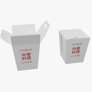3D chinese takeout model