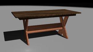 3D set mesas comedor