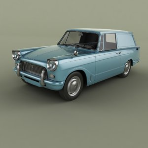 1962 triumph herald courier 3D model