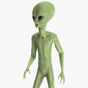 cartoon alien rigged model