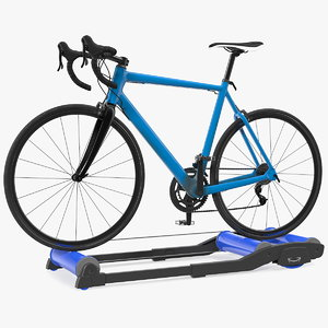 road bike riding roller 3D model