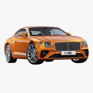 3D 2020 bentley continental gt