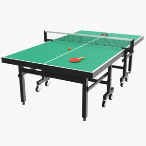real ping pong table 3D