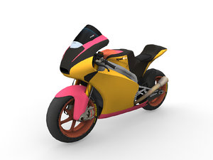 3D sport bike model