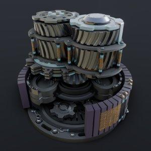generator mechanism blender 3D model