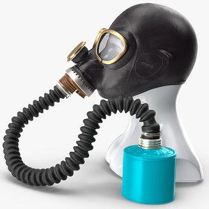 gas mask gp5 long 3D model