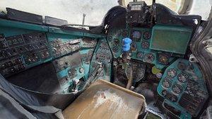 3D mi-24v pilot cockpit scan model