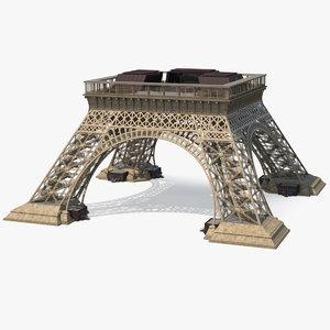 eiffel tower pillars 3D model