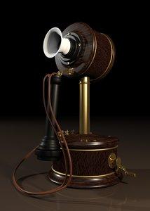 1800s phone 3D model