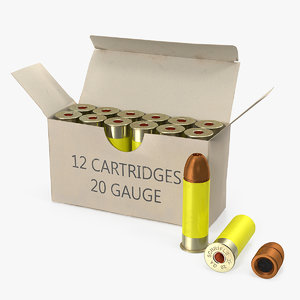 3D box 20 gauge shotgun model