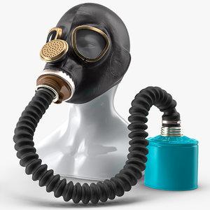 3D gas mask gp5 long