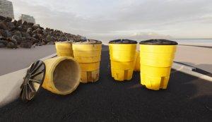 sand crash barrel 3D model
