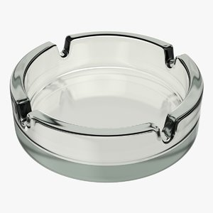 3D glass ashtray model