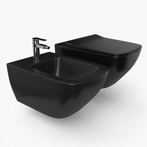 3D toilet bidet model