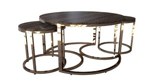 3D model table set southern enterprises